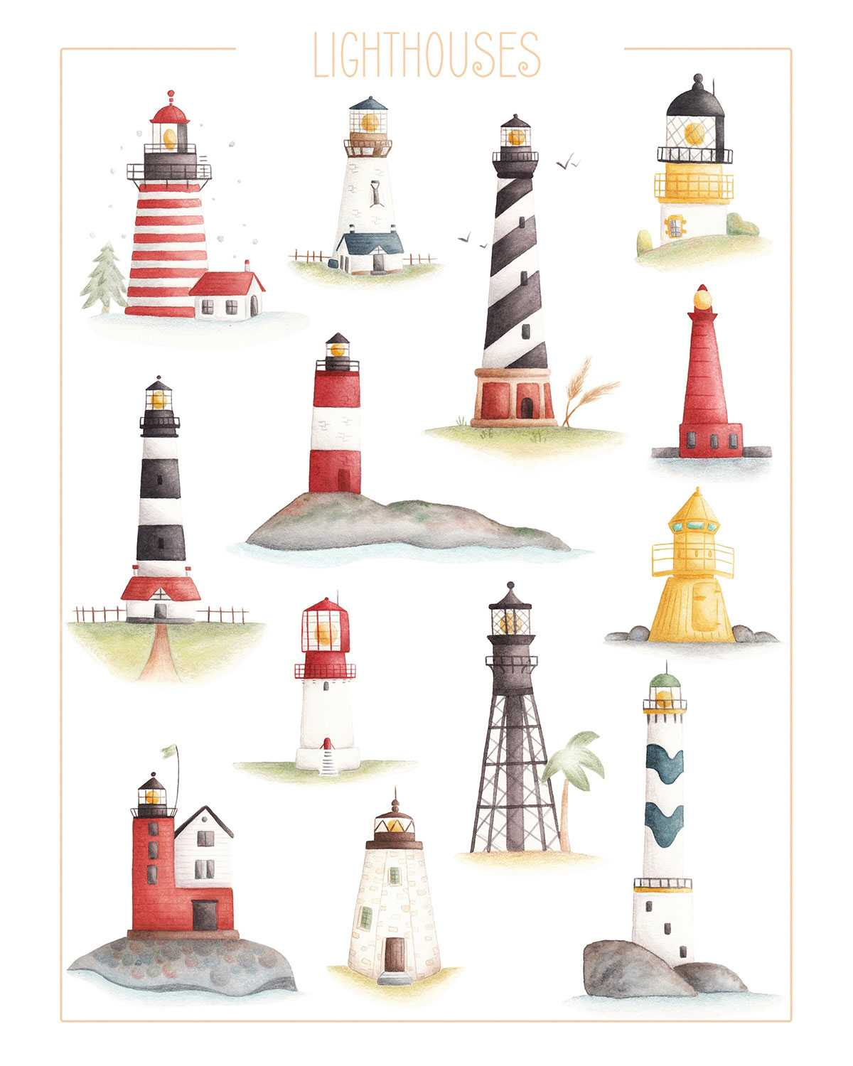 Couple of different and beautiful lighthouses.