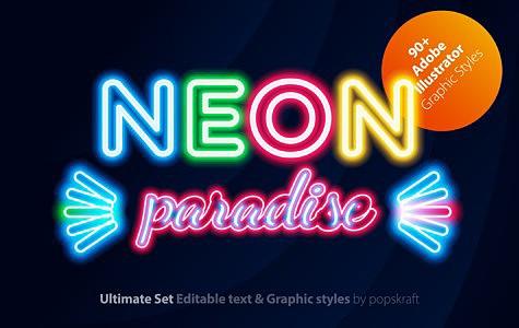 Neon Illustrator styles neon_1_AI_styles_cover.jpg