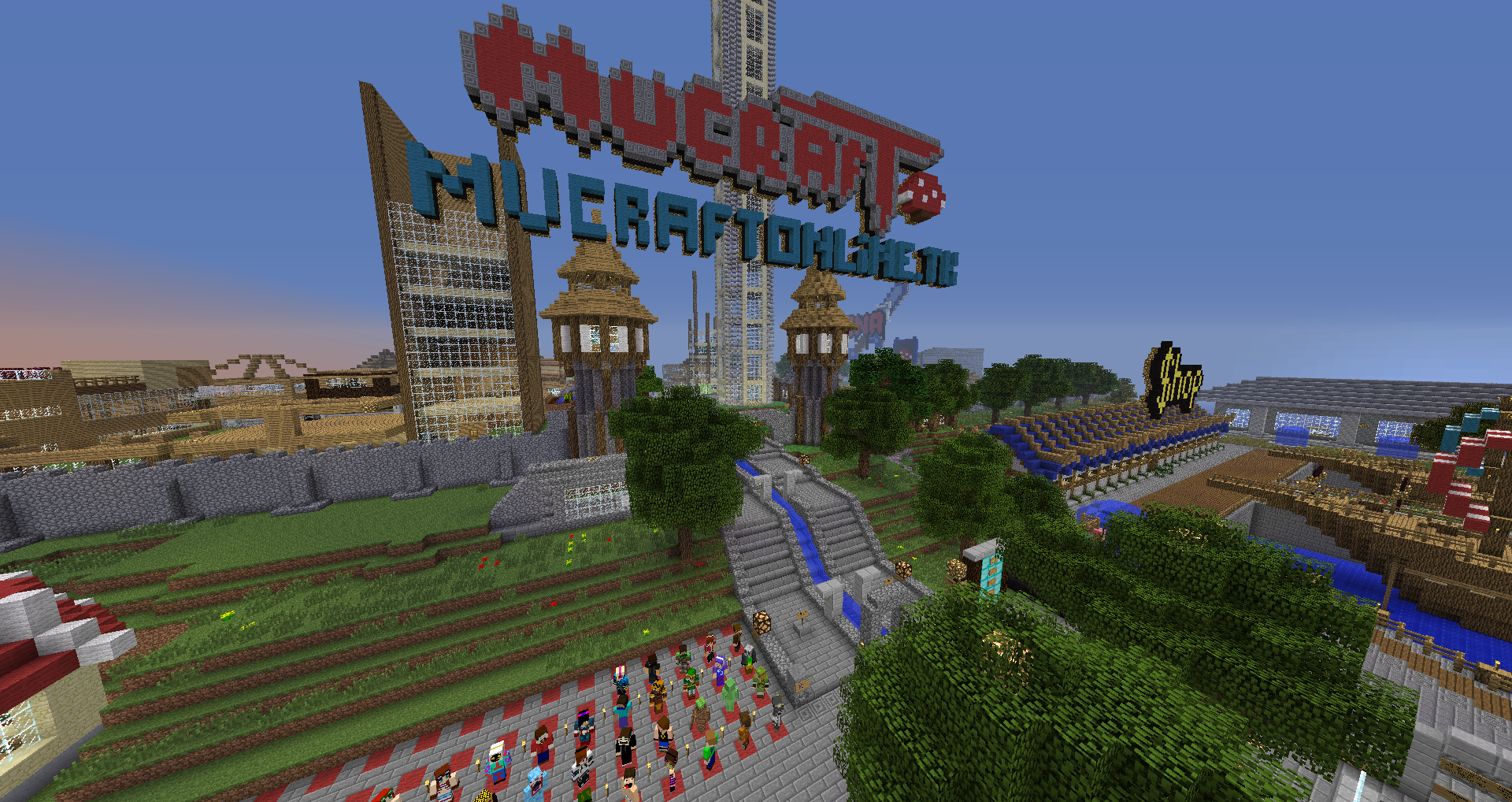 A picture from the minecraft server MuCraft 2012