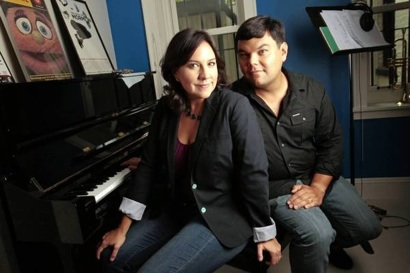 Kristen Anderson-Lopez and Bobby Lopez