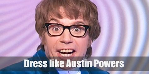 Austin Powers grew up in the 1960s so his outfit reflects the groovy fashion of the booming decade. He's famous for his ultra-bright royal blue suit which he pairs with an outdated lacy jabot and a classic pair of black Oxfords.