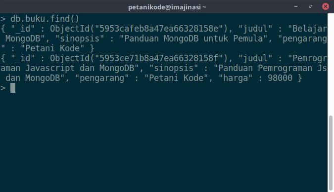 Menampilkan data MongoDB