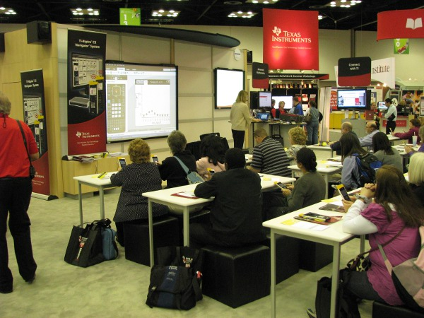 Texas Instruments booth booth NCTM