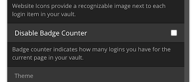 Disable Badge Counter