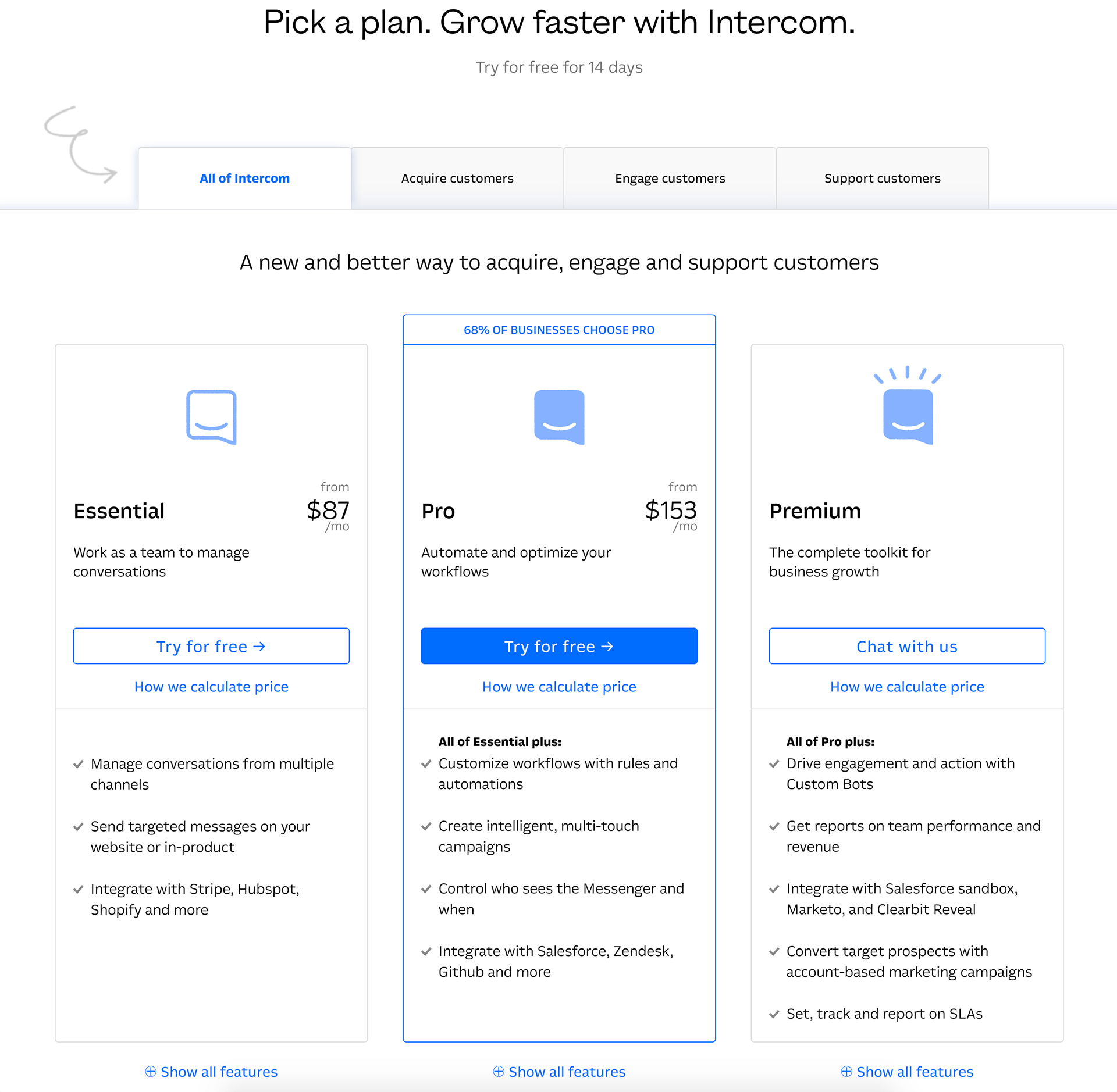 Intercom - BestPricingPages