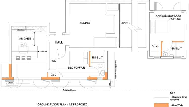 Example feasibility drawing