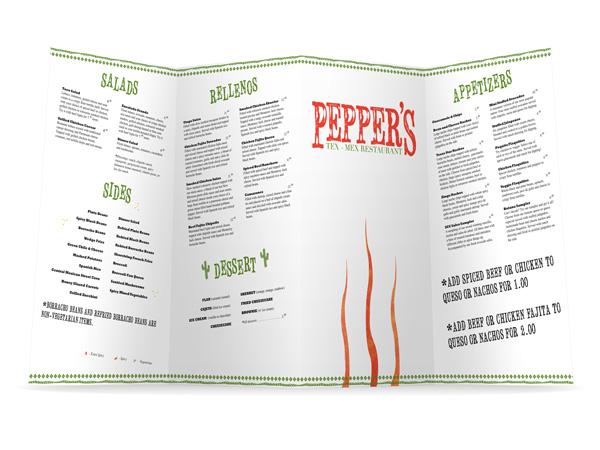 Pepper's Outside Menu