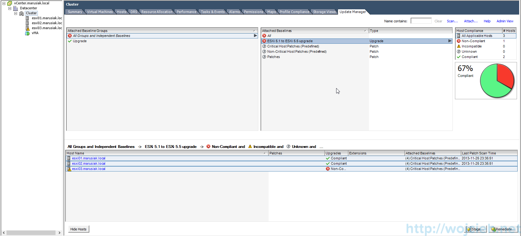 ESXi update - vSphere Update Manager 10