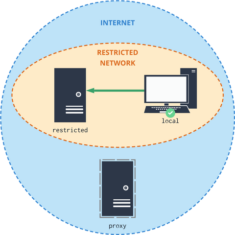 A case with a configured local system