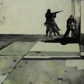 "Kirke Kangro, Estonia. ""Soda ja Rahu"" 2009. canvas, acrylic, 40x60cm"