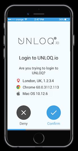 UNLOQ - Approve authentication request
