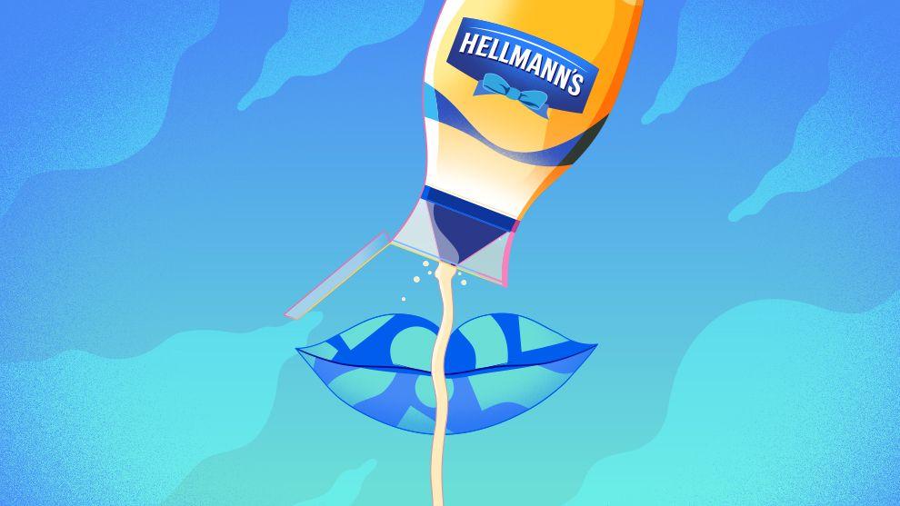 Hellmanns squeezing tub