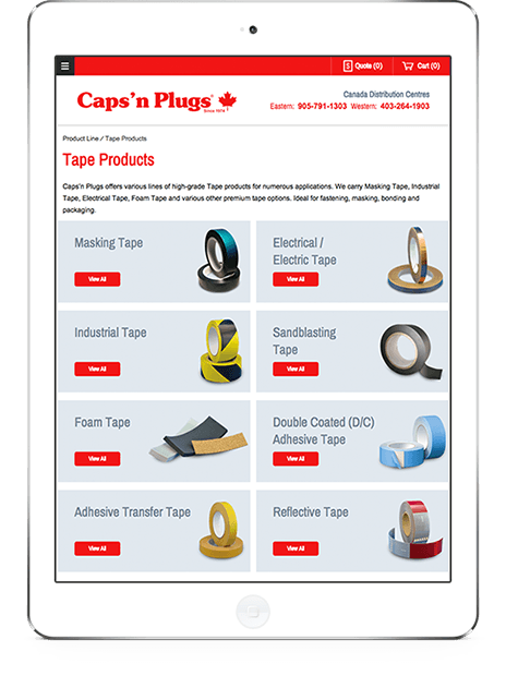Caps 'n Plugs on Tablet