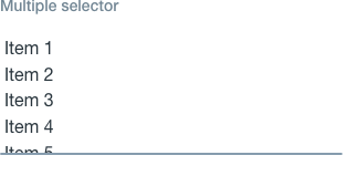 multiple selector default state