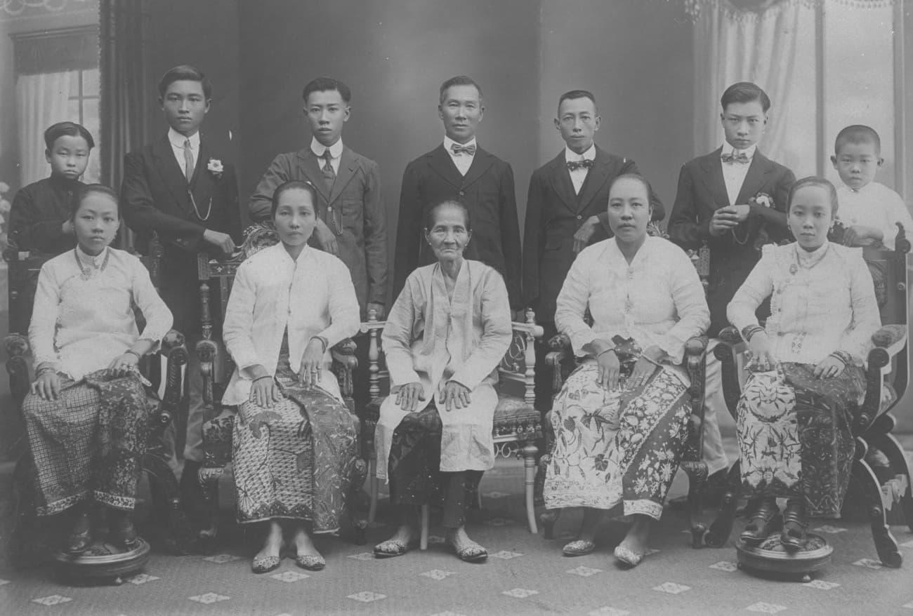 Straits Chinese family, 1920s