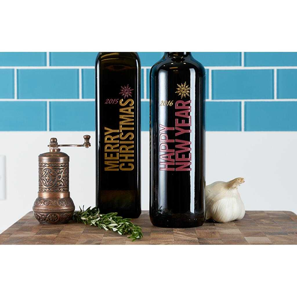 Personalized Etched Olive Oil and Vinegar Holiday gifts