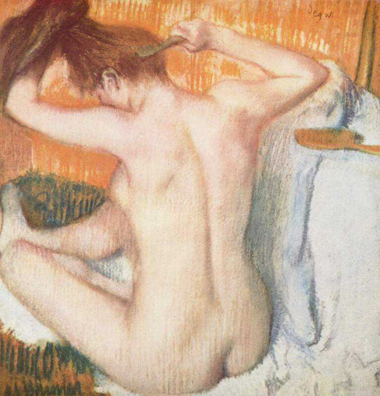 La Toilette (Woman Combing Her Hair), c. 1884–1886, pastel on paper, by Edgar Degas
