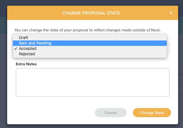 Change Proposal Status Modal