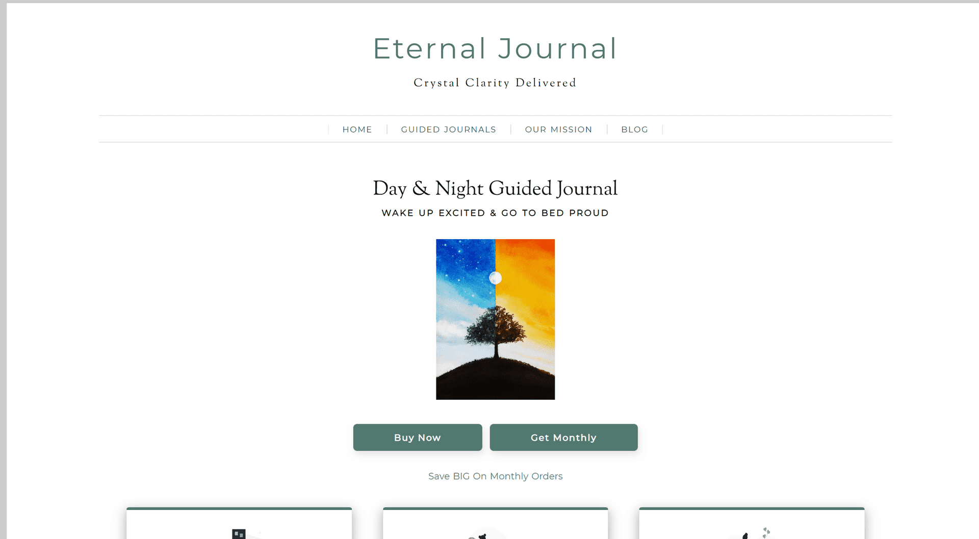 Eternal Journal eCommerce Homepage