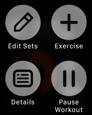 Force touch opens a ton of options for mid workout adjustments.