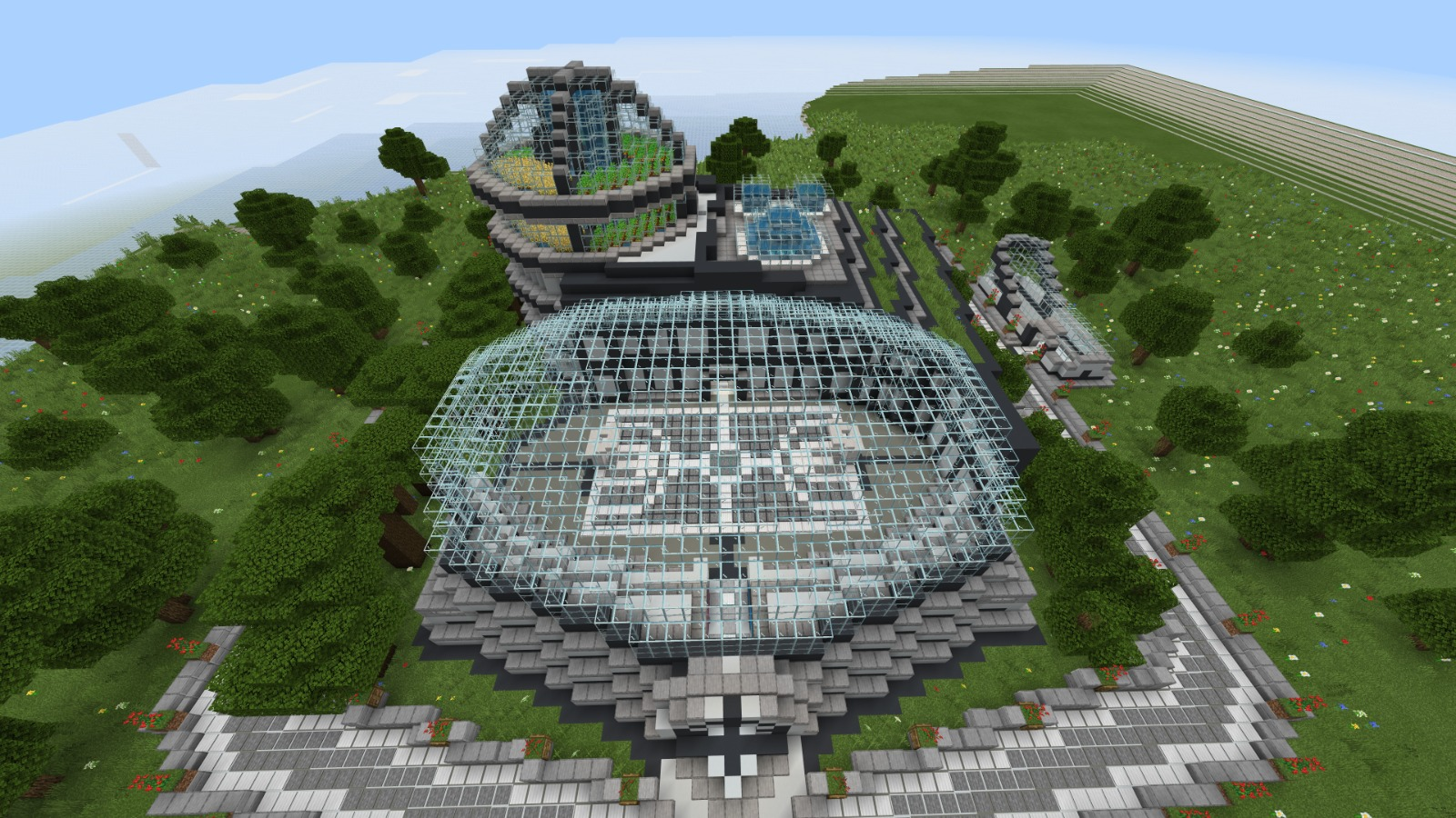 SolarGeo Dome in Minecraft