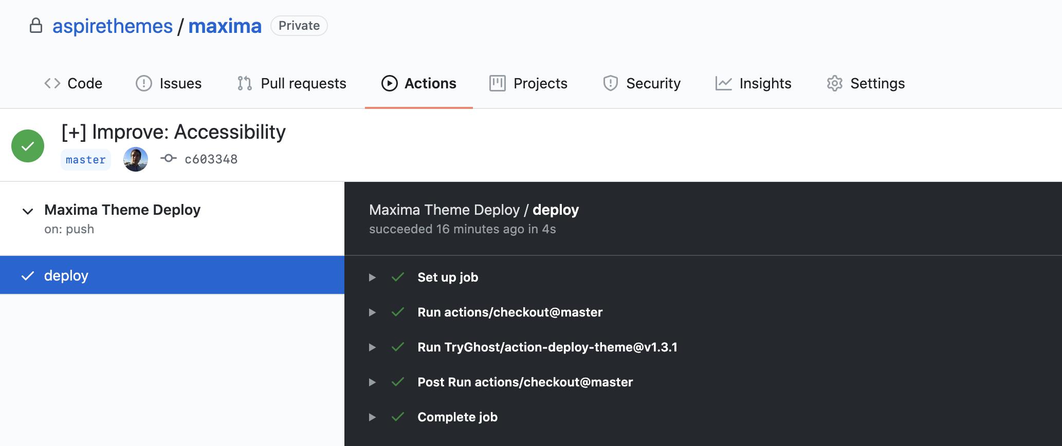 Maxima Documentation GitHub Actions