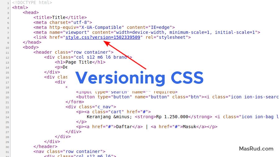 Trik versioning CSS menggunakan PHP