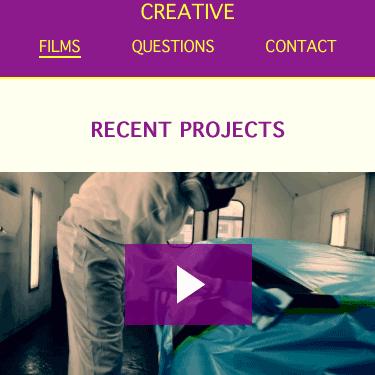 Image of Creativefilms Webpage