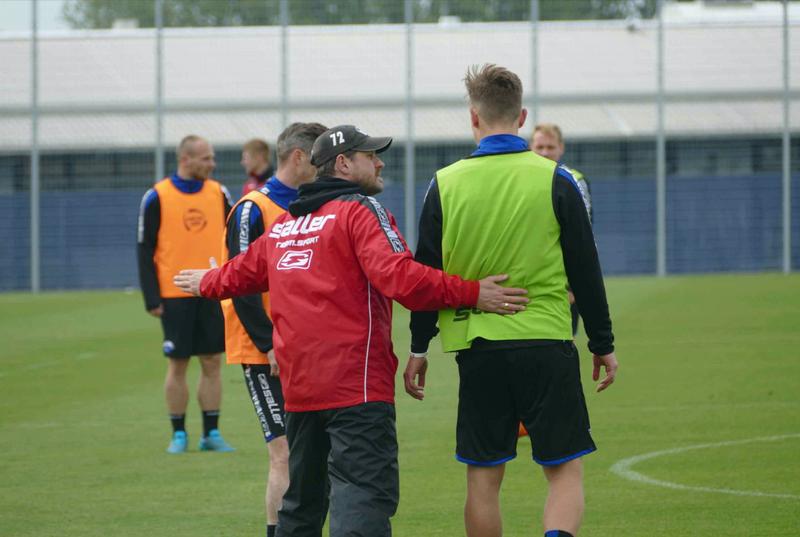SC パーダーボルンのサッカー練習
