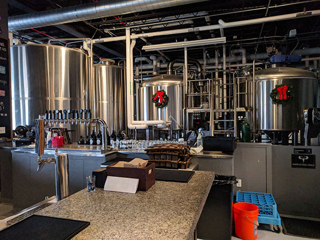 Touring the Greater Good Imperial Brewing Company taproom in Worcester, MA