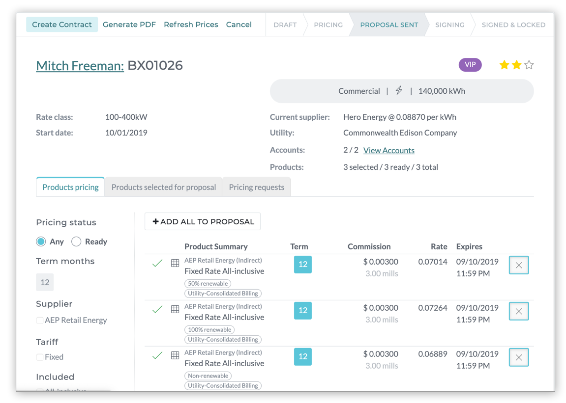 BrokerX: analyze and present multi-supplier pricing quotes