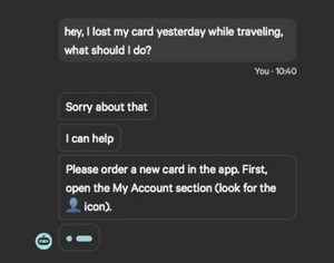 Neon: answering questions and solving problems for bank customers