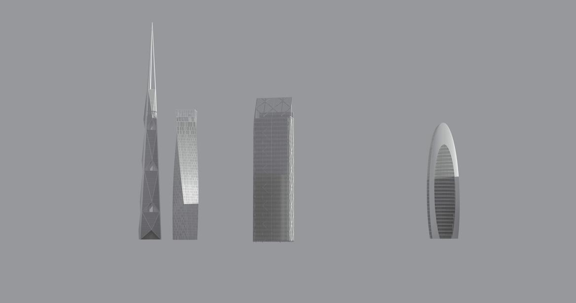 Vector Energy Future skyscrapers image