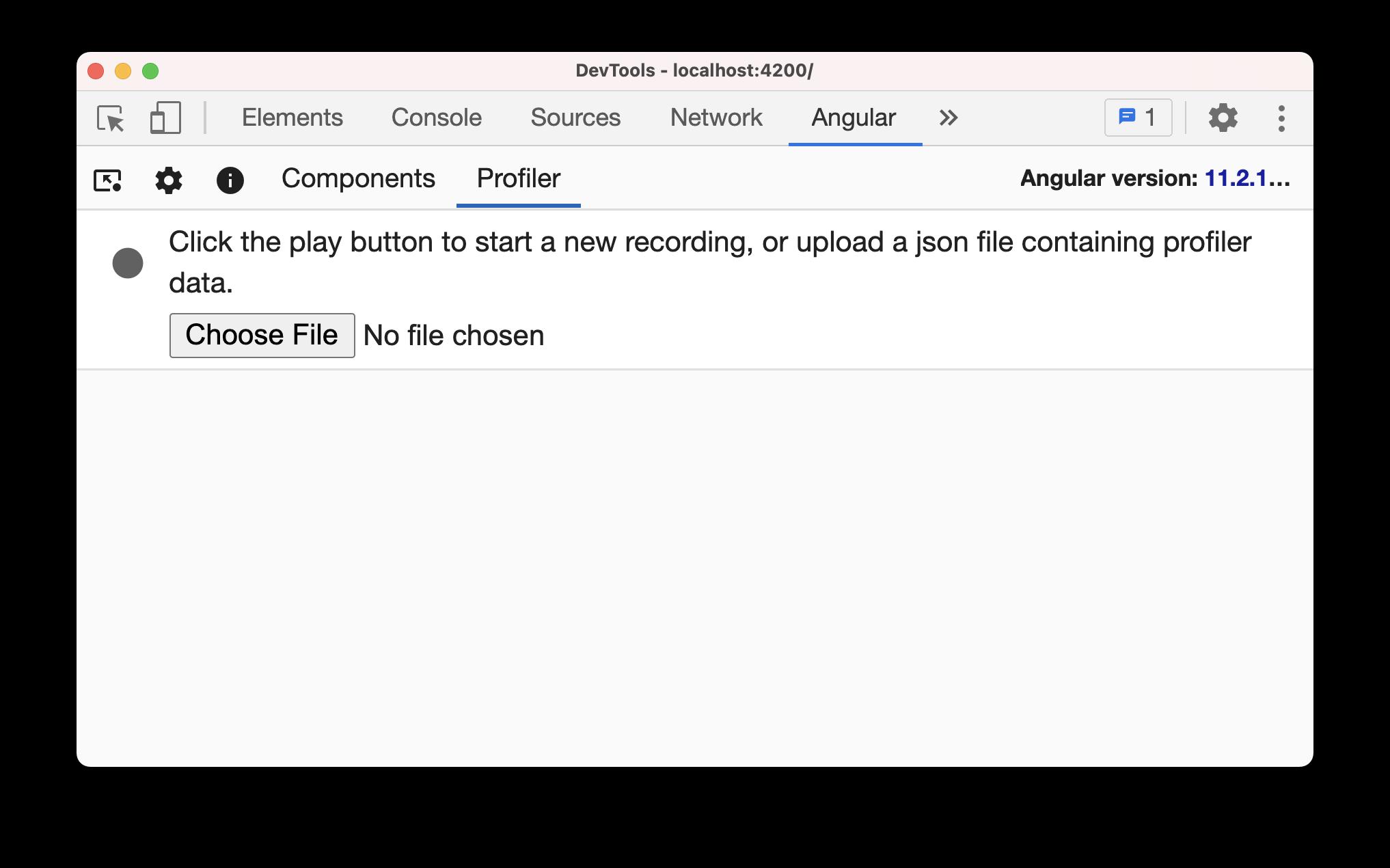 Angular dev tools profiler