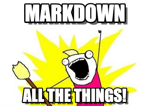 Markdown All The Things!