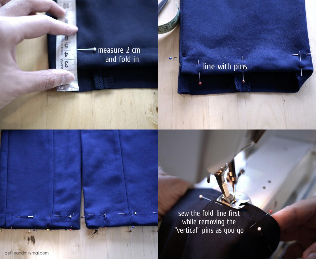 How to hem pants step 2