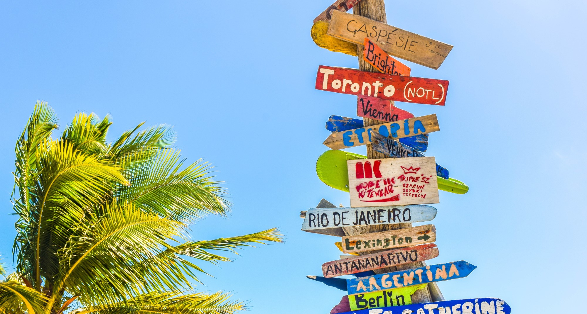 Signposts in the sunshine