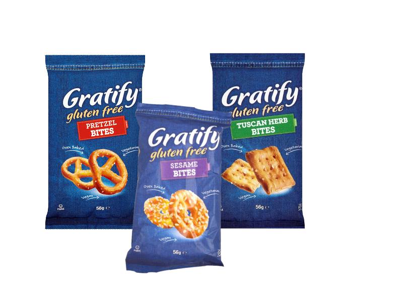 Gratify Pretzel/Sesame/Tuscan Bites (56g)