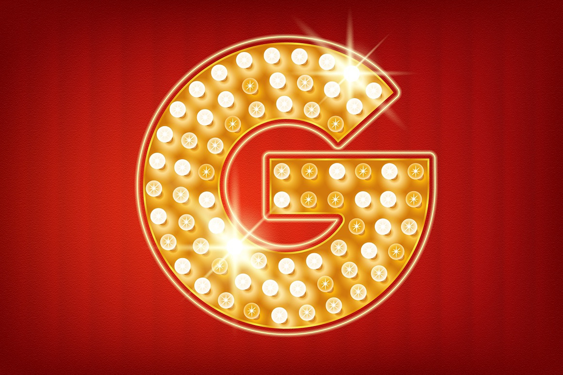 Shiny Gold Lamp Alphabet images/promo_3_letter_sample.jpg