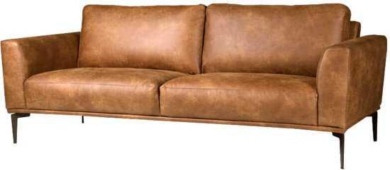 Homingxl Bank Tulp 3zits Leer Colorado Cognac 03 9200000079952538_3 44 cm