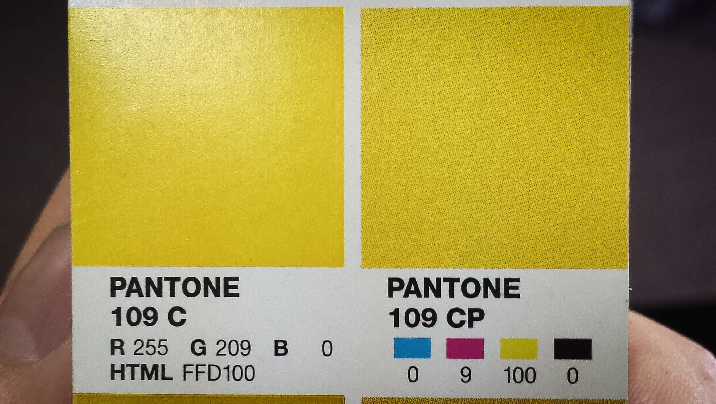 Pantone swatches include recommended CMYK, RGB and HTML values