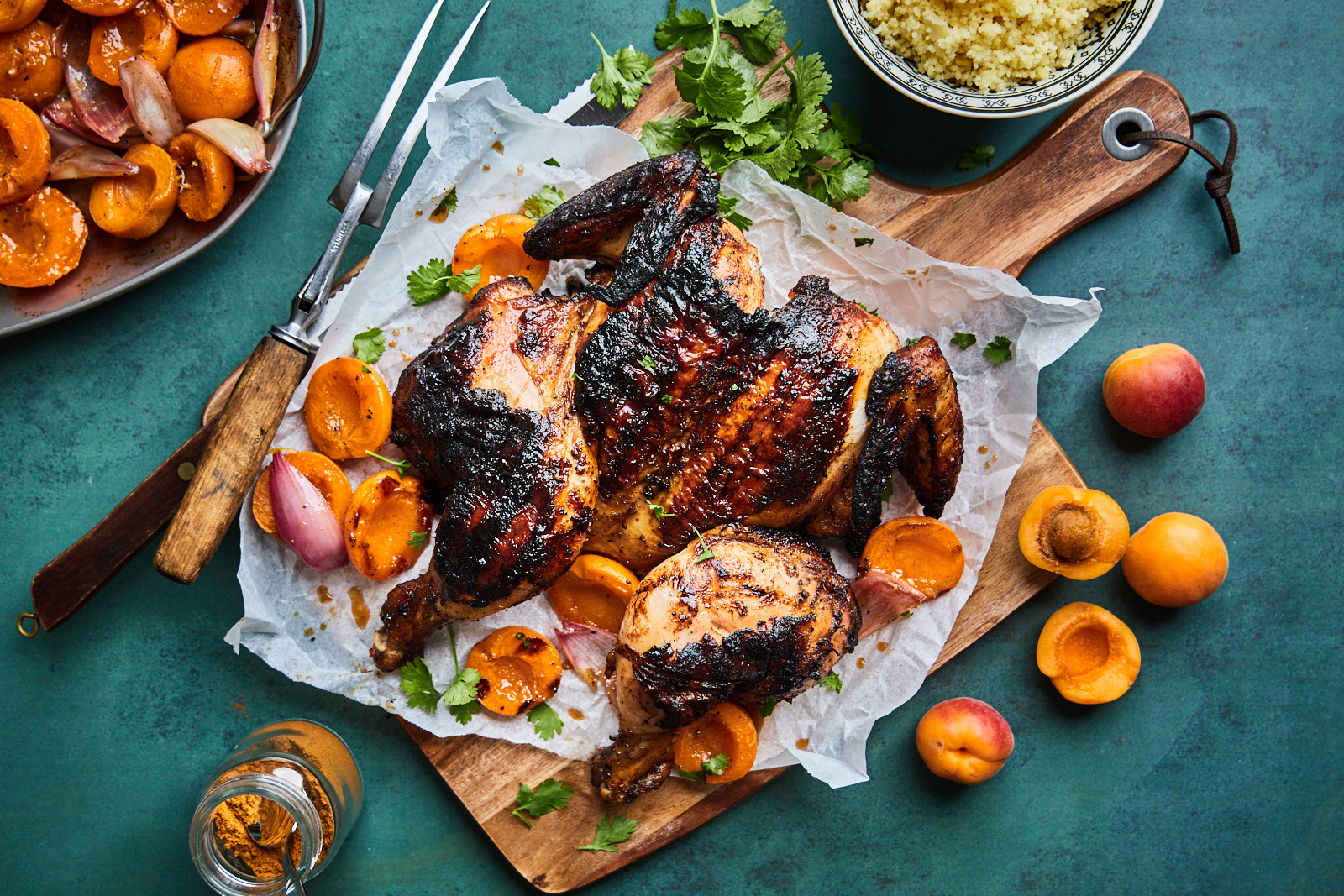 Moroccan Grilled Chicken With Apricots