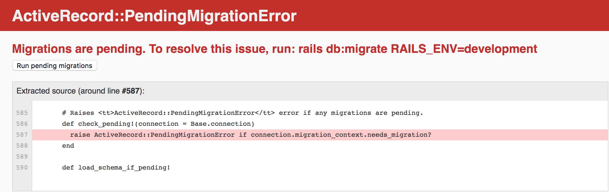 How Actionable error looks like in Rails 6