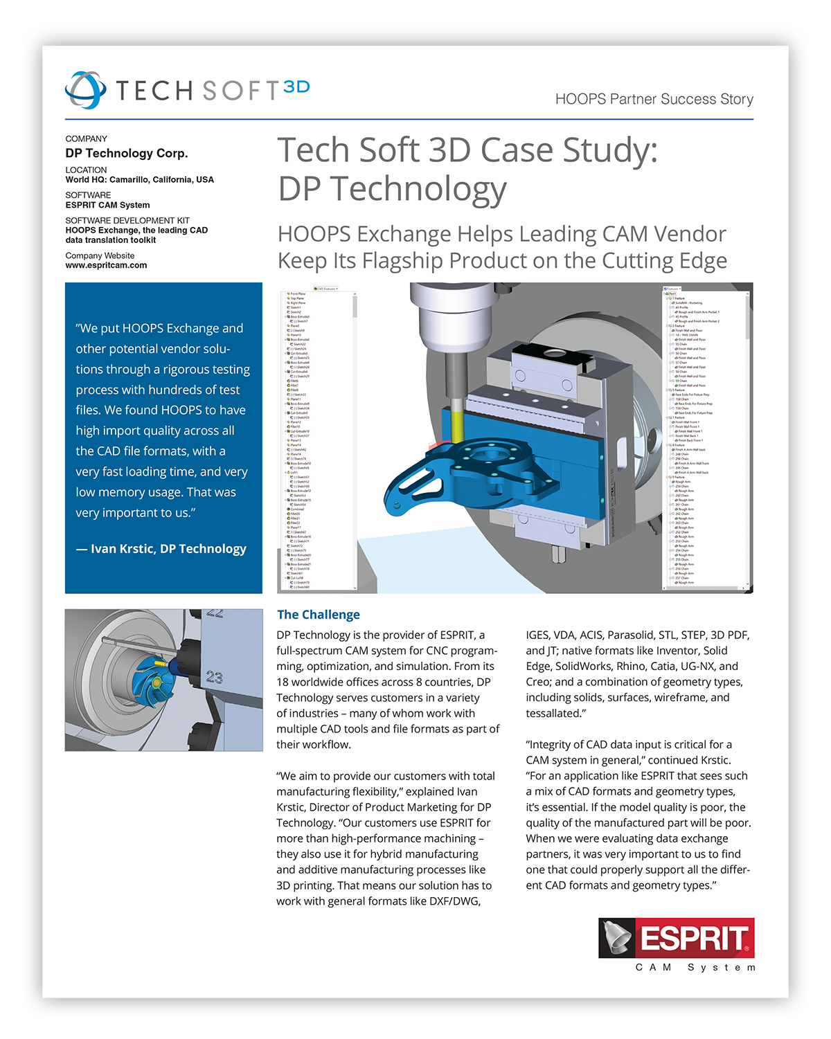 Computer Aided Manufacturing | Tech Soft 3D