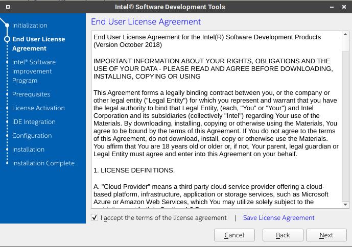 Intel System Studio 的授權文件