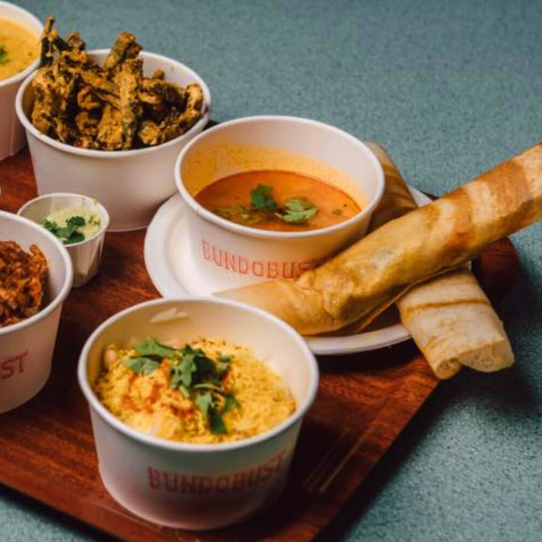 Selection of dishes from Bundobust