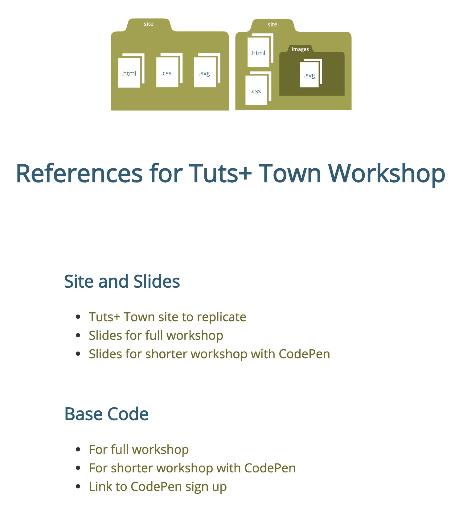 Screenshot of Tuts Town reference site