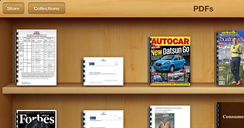Apple iBooks app on iPad
