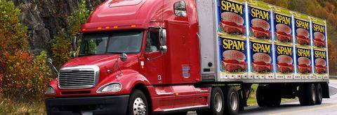 Spam semi truck
