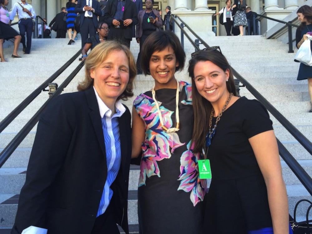 Megan Smith, Sam Kapila, and Jessica Mitsch at The White House
